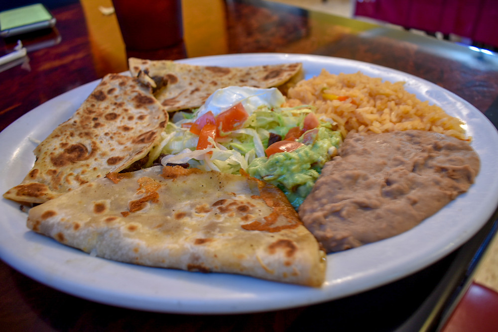 Quesadillas at Doña Chela's in Houston, Texas