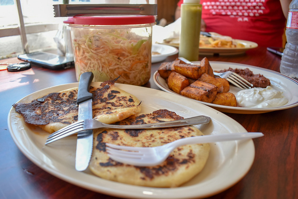 Pupusas at Restaurante Monte Cristo in Houston, Texas