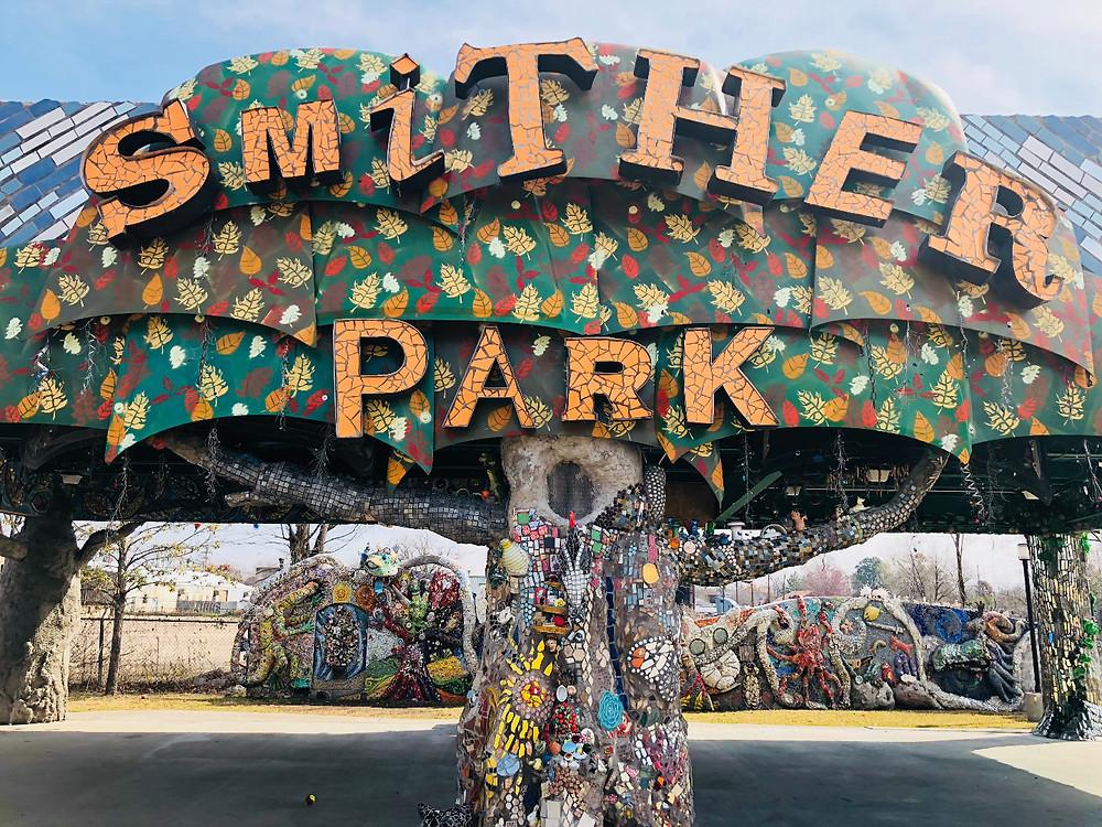 Image of Smither Park in Houston, Texas, Courtesy of The Orange Show