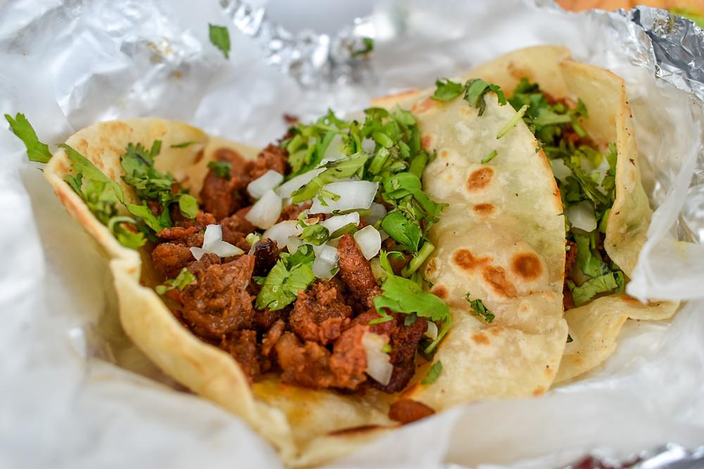 Tacos de pastor from Taqueria Govea in Houston, Texas