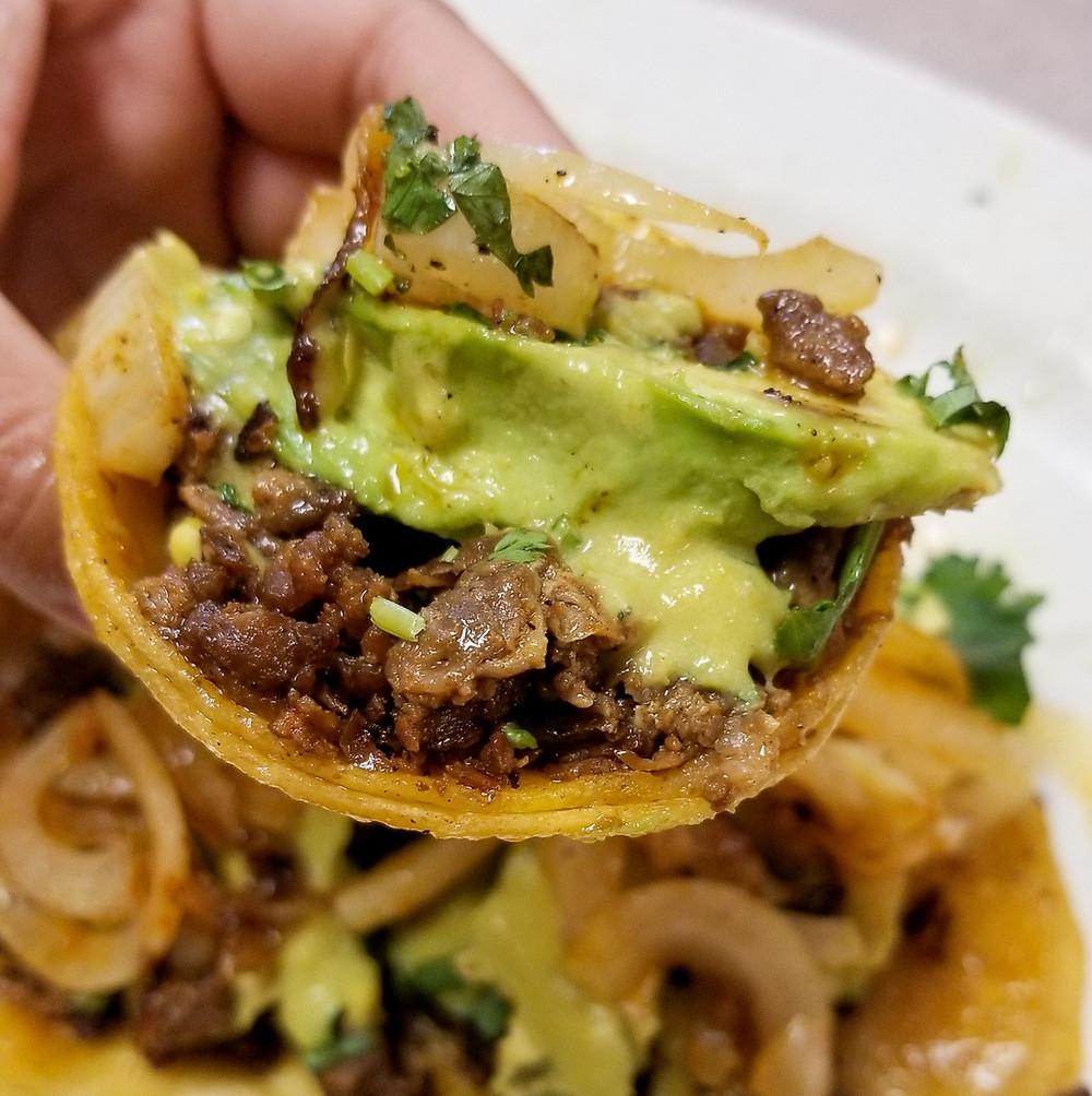 Tacos at Taqueria Puro Jalisco in Pasadena, Texas