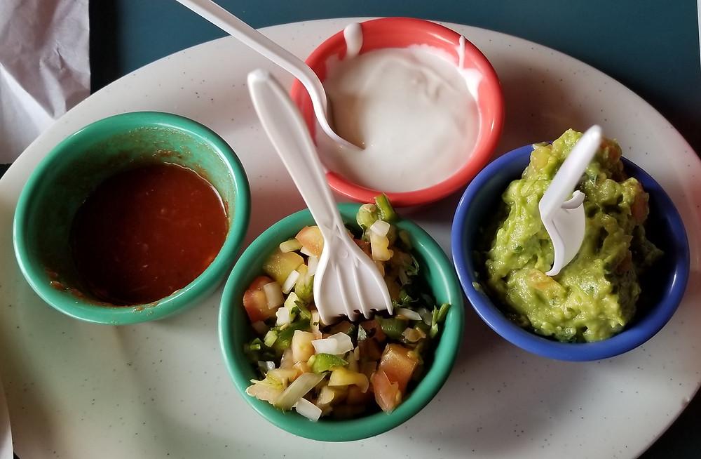 Sides served alongside botana azteca