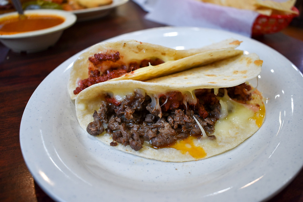 Tacos piratas at Tostada Regia in Houston, Texas