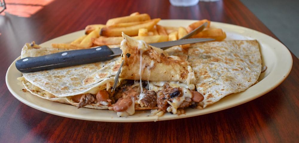 Quesadilla plate at Restaurant Monte Cristo in Houston, Texas