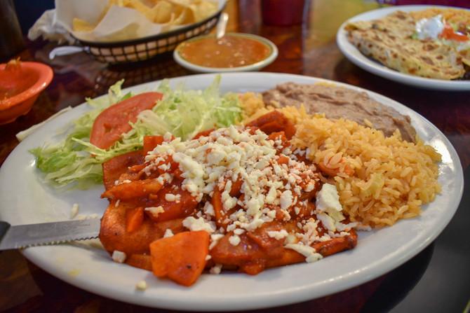 Enchiladas Mexicanas at Doña Chela's