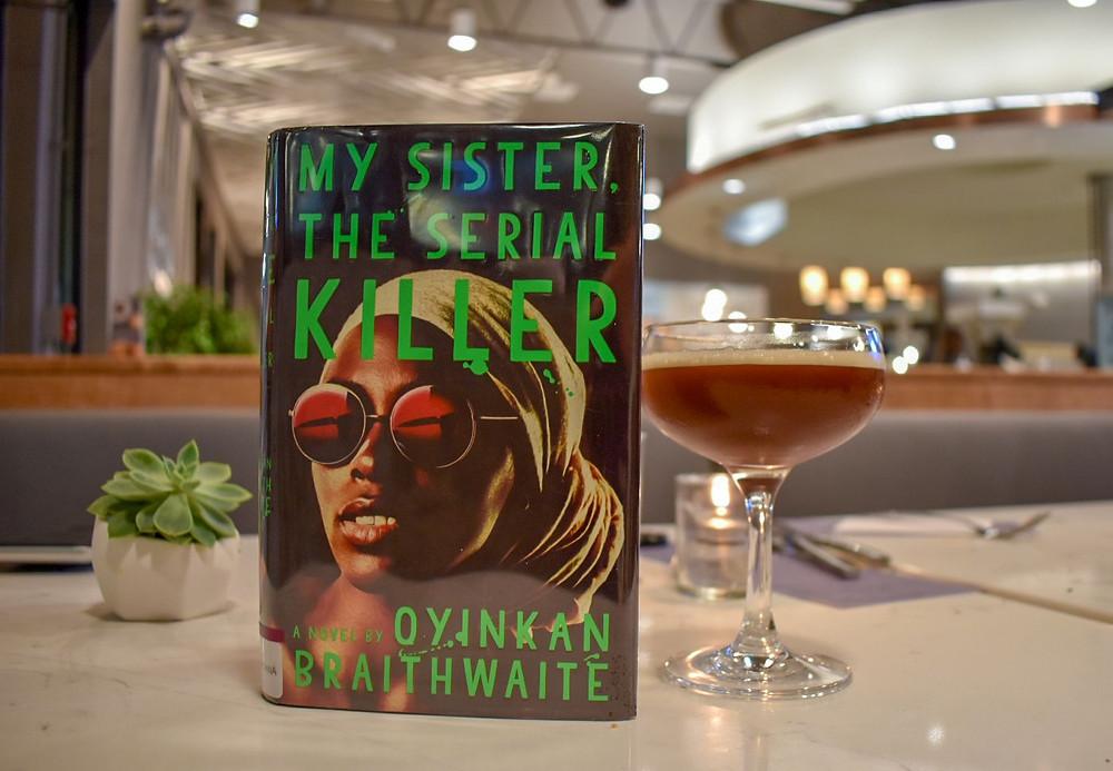 Braithwaite's novel paired with an espresso martini at The Roastery in Houston, Texas