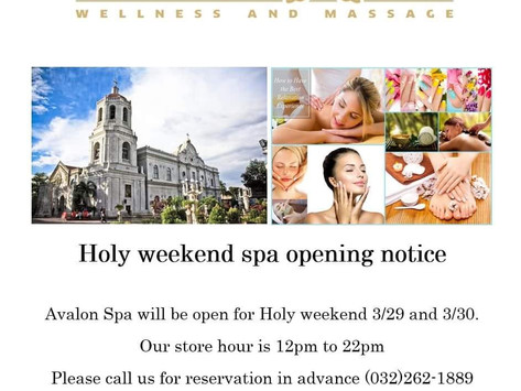 We are OPEN for Holy weekend.