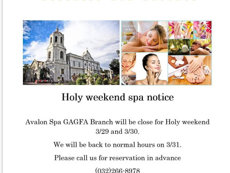 Notice of Holy weekend at GAGFA branch.