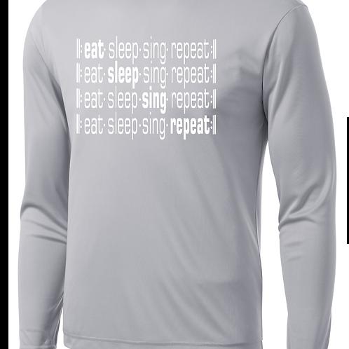 Eat Sleep Sing Repeat Long Sleeve- SD Music