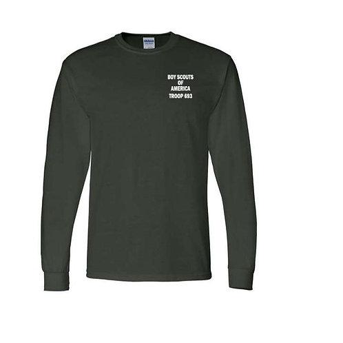 BSA Troop 693--50/50 Green Long Sleeve T-Shirt