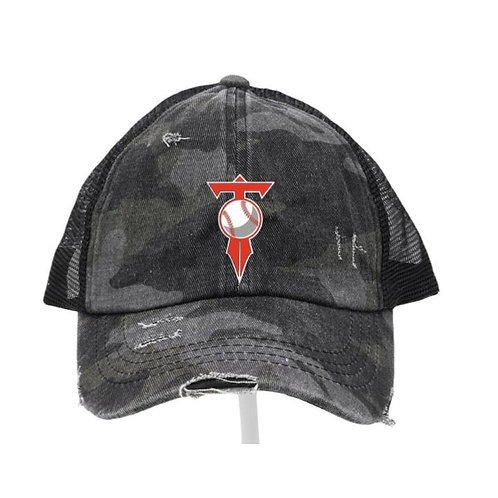 HVL Trojans Baseball Black Camo Hat