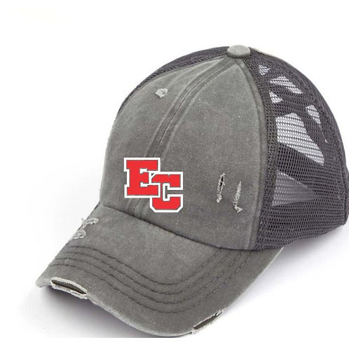 EC Track and Field Embroidered Ladies Criss Cross Hat
