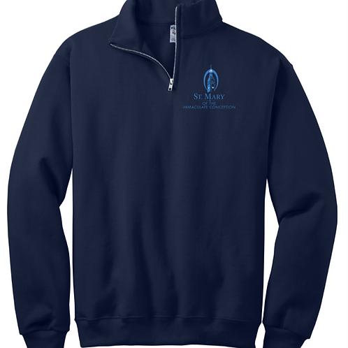 1/4 Zip Embroidered Sweatshirt St. Mary