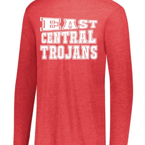 EC Track and Field Soft Style Long Sleeve Red