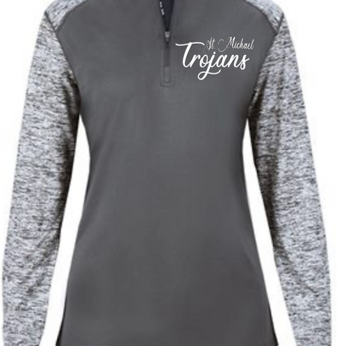 Embroidered Ladies Sport Blend 1/4 Zip St. Michael