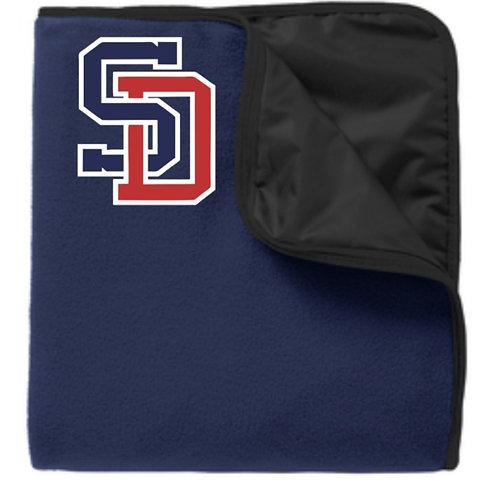 Embroidered Fleece; Poly Stadium Blanket