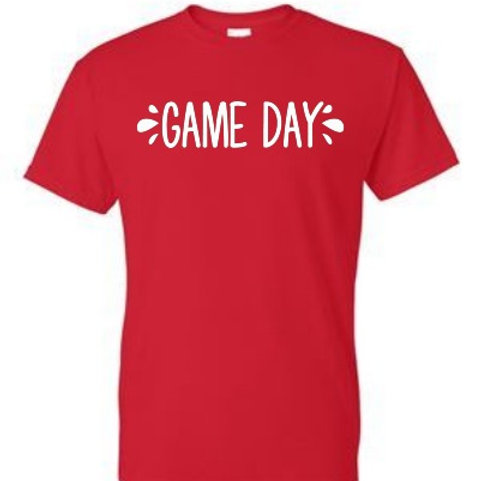 Red 50/50 Red Game Day Shirt