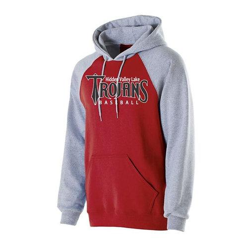 HVL Trojan Baseball Raglan Hooded Sweatshirt