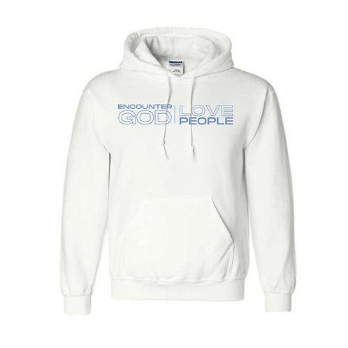 GCOTV-- White Hooded Sweatshirt
