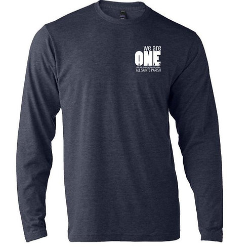 Left Chest Long Sleeve We Are One T-Shirt