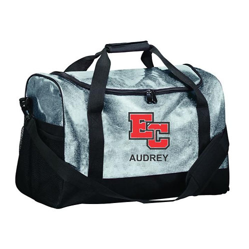 EC Track and Field Embroidered Glitter Duffle Bag