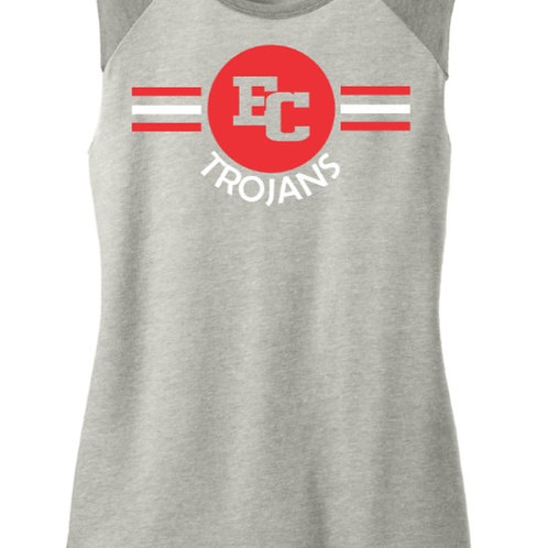 EC Track and Field Women's Team Player Vintage 50/50 Tee