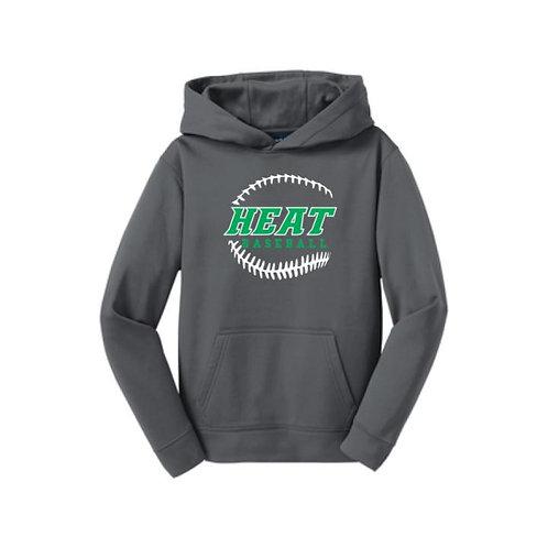Heat Baseball 100% Polyester Hooded Sweatshirt