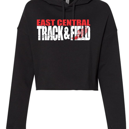 EC Track and Field Women's Lightweight Cropped Hooded Sweatshirt