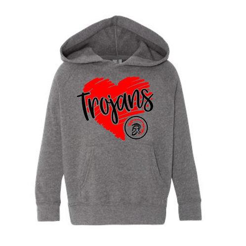 Youth Trojan Heart Hooded Sweatshirt