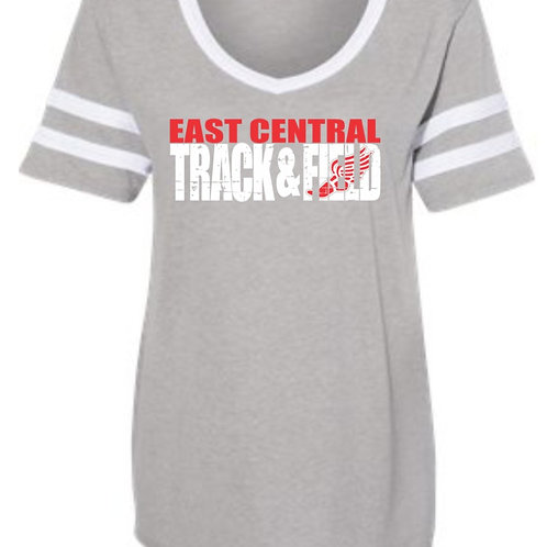EC Track and Field Women's Vintage Jersey Varsity Tee