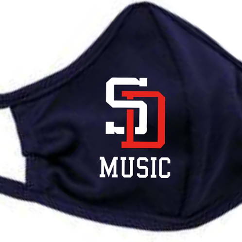 Music Badger - B-Core 3-Ply Mask Navy