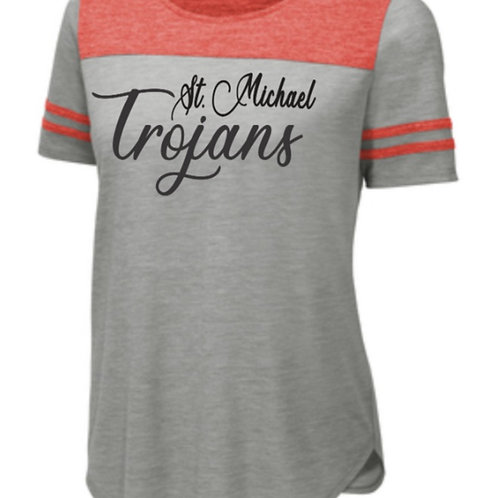 Ladies Triblend Performance Tee St. Michael