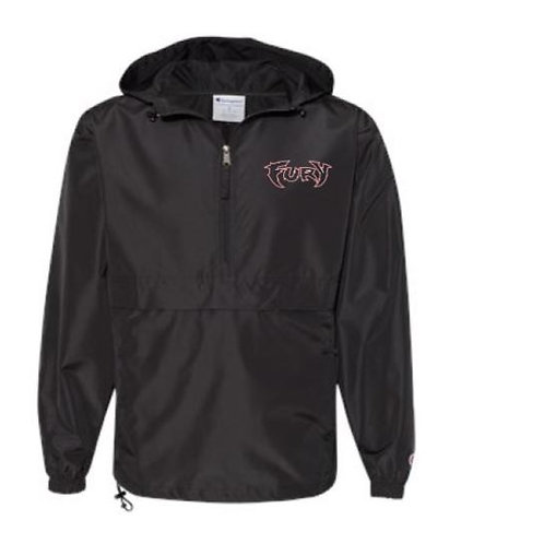 Fury Baseball Embroidered Packable Quarter-Zip Jacket