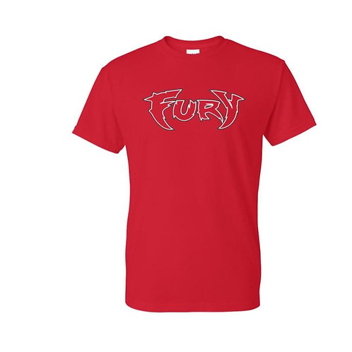 Fury Baseball 2021 Red 50/50 T-shirt