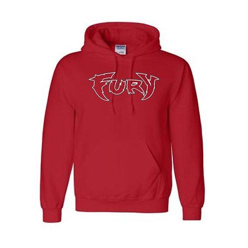 Fury Baseball Red 50/50 Hooded Sweatshirt