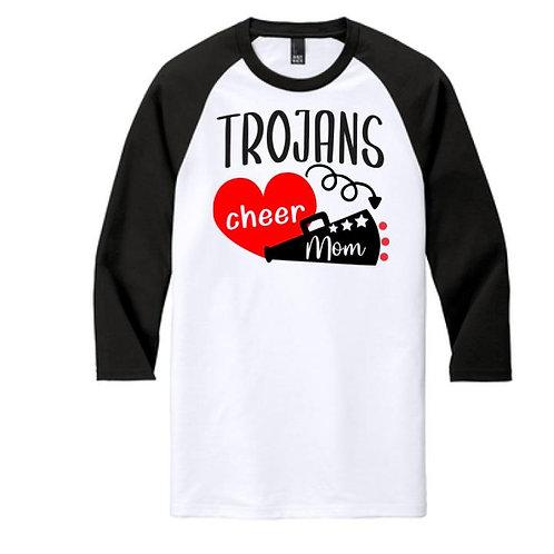 Trojan Cheer Mom Raglan