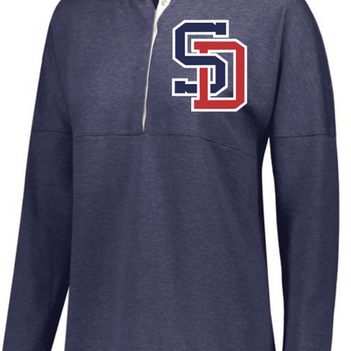 LADIES EMBROIDERED SOPHOMORE PULLOVER