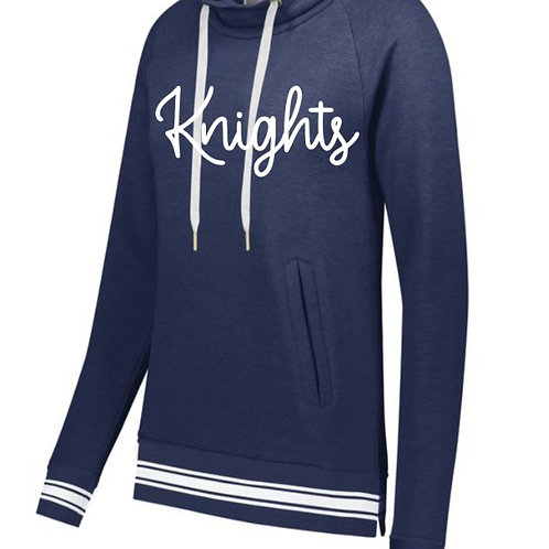 Ladies Ivy League Funnel Neck Pullover