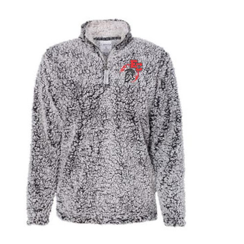 Embroidered Sherpa Pullover Marching Trojans