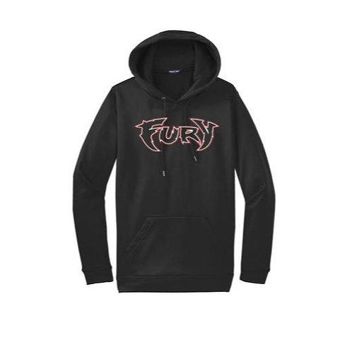 Fury Baseball Black 100% Polyester Hooded Sweatshirt