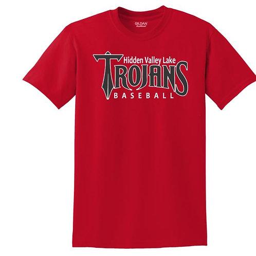 HVL Trojans Baseball 50/50 T-Shirt