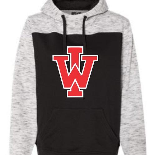 IW Mélange Fleece Colorblocked Hooded Sweatshirt