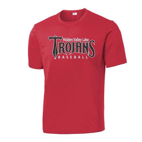 HVL Trojan Baseball Polyester T-Shirt