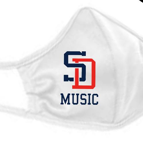 Music Badger - B-Core 3-Ply Mask White