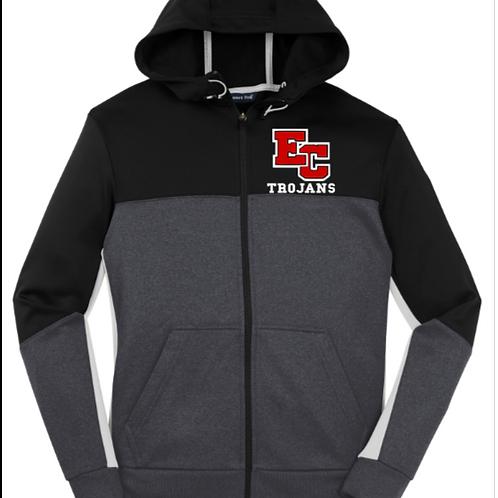EC Track and Field Sport-Tek® Tech Fleece Colorblock Full-Zip Hooded Jacket