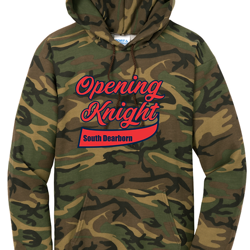 Port & Company® Core Fleece Camo Pullover Hooded Sweatshirt- SD Music