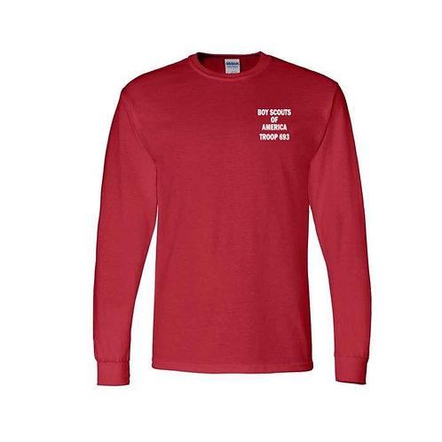 BSA Troop 693--50/50 Red Long Sleeve T-Shirt