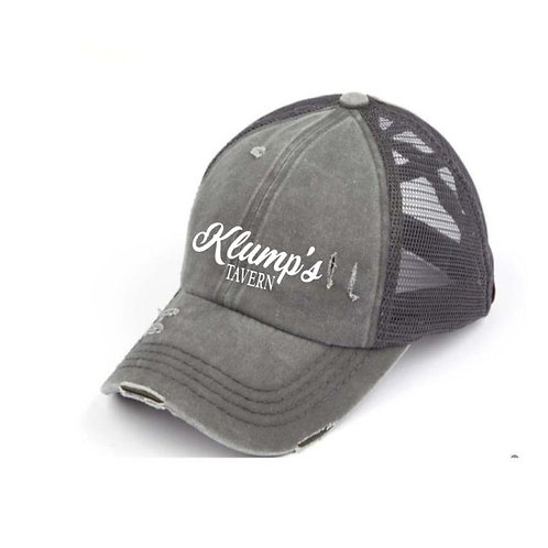 Klump's Criss Cross Gray Ladies CC Beanie Hat