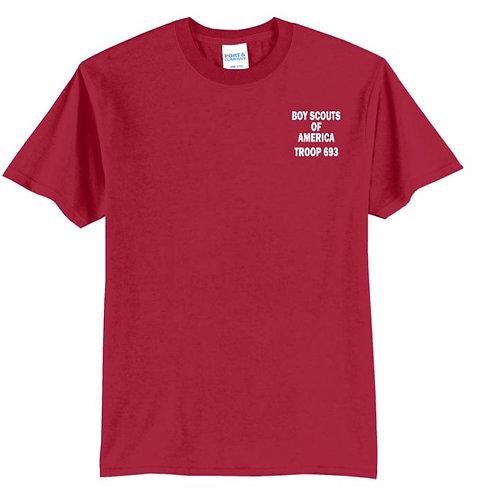 BSA Troop 693--50/50 Red T-Shirt