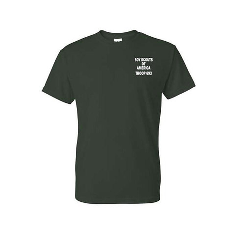 BSA Troop 693--50/50 Green T-Shirt